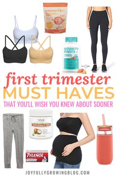 The best first trimester must haves list that'll make the first few months of pregnancy so much easier! These pregnancy must haves are some of my favorites! embarazadas fashion fotos ideas moda diet first yoga fashion fotos outfits tips women First Trimester Tips, Pregnancy First Trimester, Trimesters Of Pregnancy, Pregnancy Months, Third Trimester, Pregnancy Tips, Pregnancy Belly, Pregnancy Products, Early Pregnancy