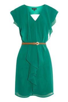 Emerald green dress #cocktaildress #emeralddress