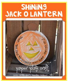 {Shining Jack-o-Lantern) ~ Paper Plate Craft for Sunday School