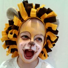 handmade lion's mane made of felt, #costumes #kids #Fasching #DIY