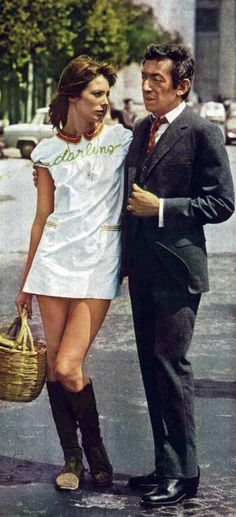 Summer style icons. Serge Gainsbourgh and Jane Birkin <3