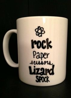 Big BANG Theory Inspired MUG Lizard SPOCK por TheMugglyDuckling