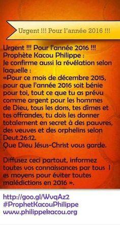 #ProphetKacouPhilippe