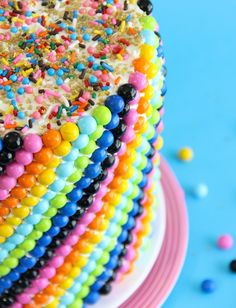 Candy cake... So fun! Love the colors!