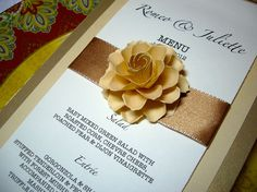 Wedding Menu Cards Designed  by DragonflyExpression