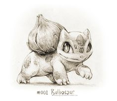 #bulbasaur. Drawings of Pokémon by Rocky