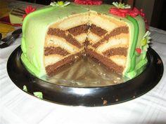 Ako na točenú, šachovnicovú či prevrátenú tortu Cake Decorating Techniques, Cake Decorating Tutorials, Cookie Decorating, Russian Cakes, Cake Name, Dessert Decoration, Cake Tins, Cupcake Cookies, Cupcakes