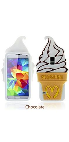 White Brown Beige Soft Serve Ice Cream Cone Gel Phone Case Iphone Samsung Cover