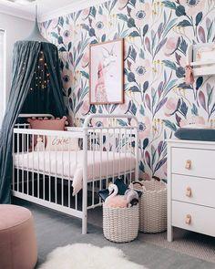 Removable wallpaper nursery wall decor nursery wallpaper wallpaper peel and stick wallpaper baby girl nursery pink nursery wall sticker Kinderzimmer