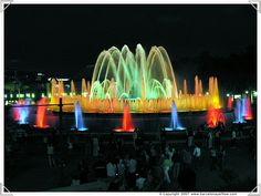 fountain shows   Magic Fountains Barcelona