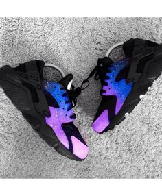 Nike Air Huarache Magic Galaxy Royal Blue Purple Trainer Style beautiful  and colorful, very young