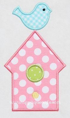 Bird House Applique Design
