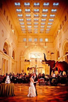 Field Museum Wedding ahh Dream right here married in the field museum!  Omg you can get married in a museum???? I'm freaking out!!!! How cool would this be????