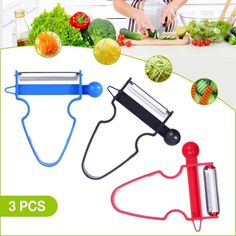 The magic trio peelers 🤩 👩🍳 Need an Upgrade on Your Kitchen Tools? These peelers do it all! Tiny Potato, Food Storage Boxes, Peeling Potatoes, Stainless Steel Types, Zucchini Noodles, Weight Watchers Meals, Blade, Walmart, Veggies
