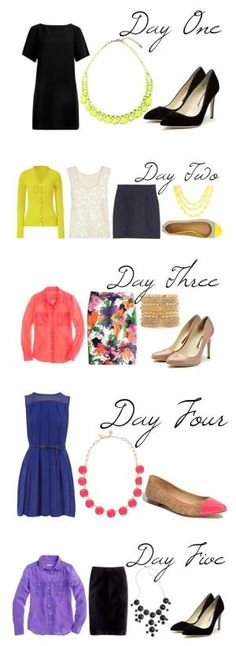 Week of outfits.. love these for work! by Mrs Olden