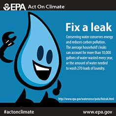 This just leaked to the press! Fix household leaks and conserve water, energy and #ActOnClimate.