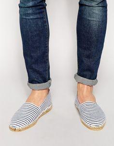 Buy Men Shoes / Asos Canvas Espadrilles With Stripes