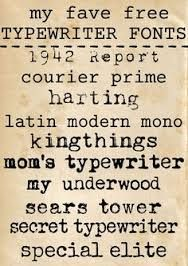 Image result for font old fashioned typewriter
