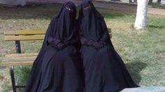 SISTERHOOD - my sisters in their niqab religious dress enjoying each others company as it should be Hijabi Girl, Girl Hijab, Hijab Collection, Islam Women, Hijab Niqab, Islamic Clothing, Modest Outfits, Hijab Fashion, Women's Fashion