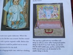 """""""VERY RARE """" Vintage Effanbee Dy-Dee Doll Trunk for 15"""" with Accessories"""