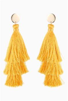 Buy Ochre Tassel Earrings from the Next UK online shop