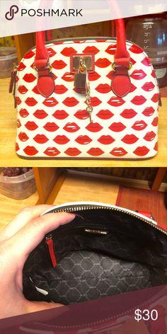 453484cd7ac Aldo Purse Like new small Aldo handbag red lips print comes with removable  shoulder strap Aldo