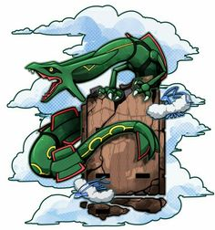 Emerald by Stormful on DeviantArt Pokemon Pins, Pokemon Memes, All Pokemon, Pokemon Fan Art, Deadpool Pikachu, Nerdy Tattoos, Pokemon Official, Charizard, Mega Rayquaza