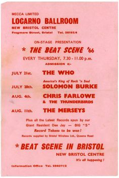 1966 The Who Live, Locarno Ballroom, Bristol