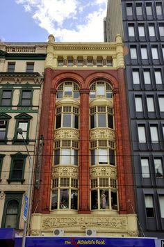 Art Nouveau Paton Building on Elizabeth Street, Melbourne
