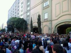 Fans outside hotel Mexico #3.