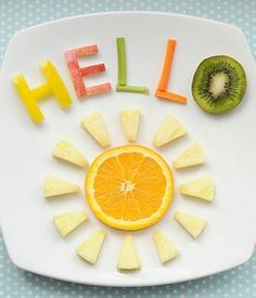 hello fans wish you good day. #fruits #food #foodart #carrot #kiwi #orange #deliciousfood #hello
