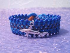 Shark Charm Beaded Hemp Bracelet by Jenstylehemp on Etsy