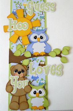 This is just the cutest! I like the textured card stock, which takes shading so well. The owls are to die for in cuteness!