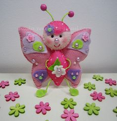♥♥♥ Rosinha, a borboletinha.... by sweetfelt \ ideias em feltro