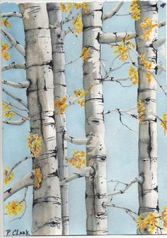 Birch Tree Art Birch Trees-Watercolor All Things Art Drawing Artist, Painting & Drawing, Drawing Trees, Diy Painting, Watercolor Trees, Watercolor Paintings, Watercolor Water, Watercolors, Birch Tree Art