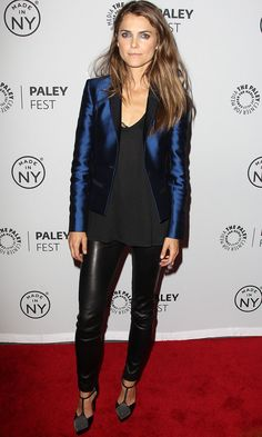 24b2b6ed7deb Keri Russell   Matthew Rhys   The Americans  Paleyfest Panel!  Photo Keri  Russell keeps it fierce with leather pants while attending The Americans  panel ...