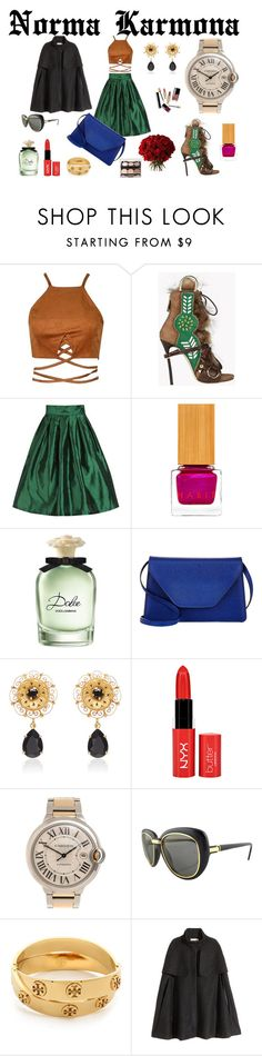 """""""Norma Karmona"""" by normacarmona on Polyvore featuring moda, Dsquared2, Habit Cosmetics, Dolce&Gabbana, Valextra, Cadeau, Cartier, Tory Burch y H&M"""