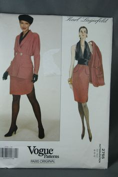 Vogue Paris Original, Karl Lagerfeld Pattern 2755