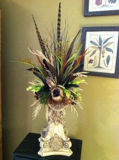 Tuscan Style Silk Floral Arrangement - Greatwood Floral Designs