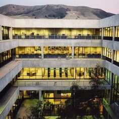 The REK Library from a new angle at sunset.