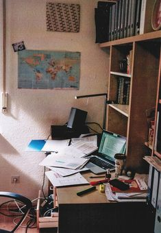 You could always tell exams were coming just by looking at Matt's desk. Usually kept pristine and organized, his desk always looked like a crime scene whenever he was stressed.