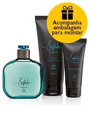 Presente Natura Biografia Desperte Masculino - Desodorante Colônia + Shampoo + Gel Fixador + Embalagem Desmontada