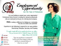 Employment Opportunity PHD Office: 928-341-9111 www.phdyuma.com  4275 E 30th Place Yuma Az 85365