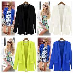Fashion Women's Long sleeve Slim Casual Business Blazer Suit Jacket Coat Outwear #UnbrandedGeneric #CasualFashion