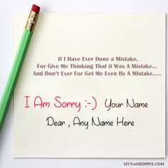 Write bf or gf name i am really sorry greeting card v pinterest write name on i am sorry greeting card image print your name on sorry forgive me card profile photo online create sorry greeting card pictures with names m4hsunfo