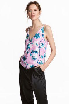 Top - Light pink/Patterned - Ladies | H&M 1