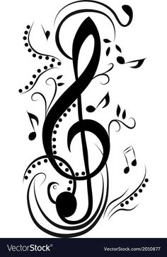 Abstract treble clef vector image on VectorStock Music Tattoo Designs, Music Tattoos, Word Tattoos, Music Drawings, Music Artwork, Treble Clef Tattoo, Treble Clef Art, Music Clipart, Musik Illustration