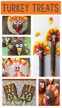 Check out these sweet Turkey Treats for Kids to add to your Thanksgiving table this year!