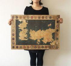 Size: 28x20inch(71*51.5cm) Large Vintage Style Retro Paper Poster Description…