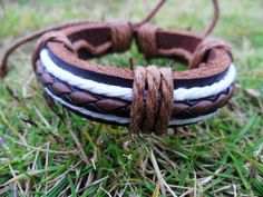 Cuff Bracelet Made With Leather and Ropes 50A by accessory365, $3.00